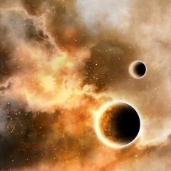 Planets-Senarius #digitalart, #spaceart, #scifi, #astronomy
