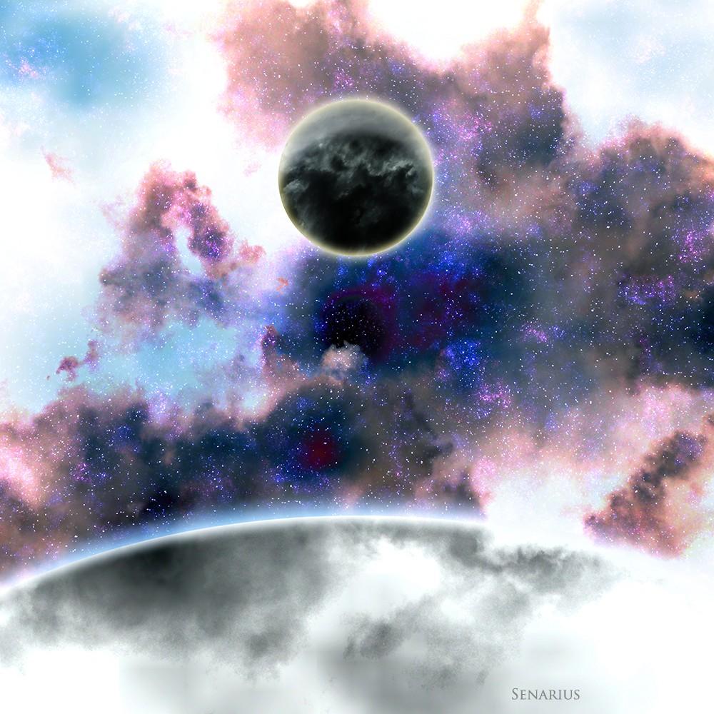 planète noire - Senarius, #digitalart